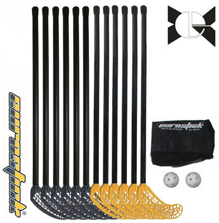 Eurostick Medi Mini teamset with netbag 65/75cm Florbalový set (6 - 8 let)