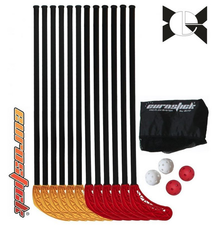 Necy Poppis junior teamset with netbag 85/98cm Floorball set (9-12 age)
