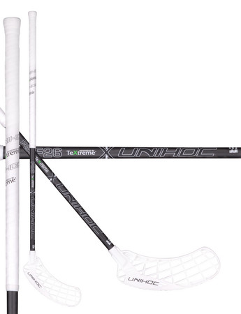 Unihoc EPIC TeXtreme 26 white/black Floorball stick