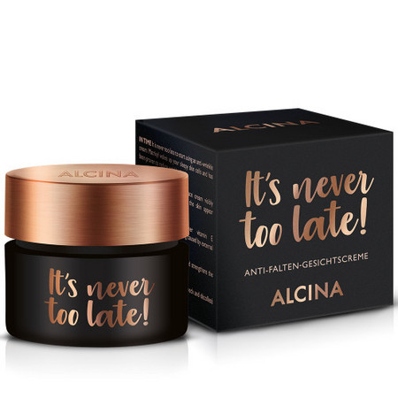 Alcina It's Never Too Late Anti-Wrinkle Face Cream Anti-falten-Gesichtscreme