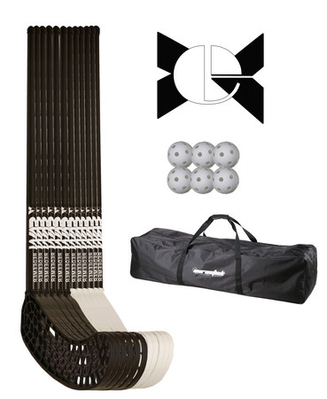Eurostick Raw Redeemer 95/107cm Teamset with bag Floorball set (13 - 15 Jahre)