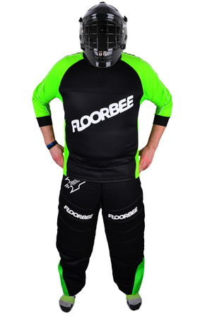 FLOORBEE Landing 2.0 set with HELMET Torwart-Set