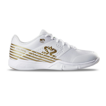 Salming Viper 5 Women white/gold Hallenschuhe