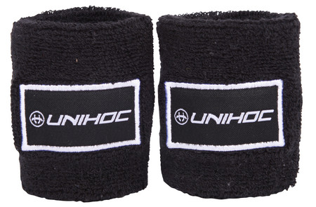 Unihoc Wristband TERRY 2-pack black potítka