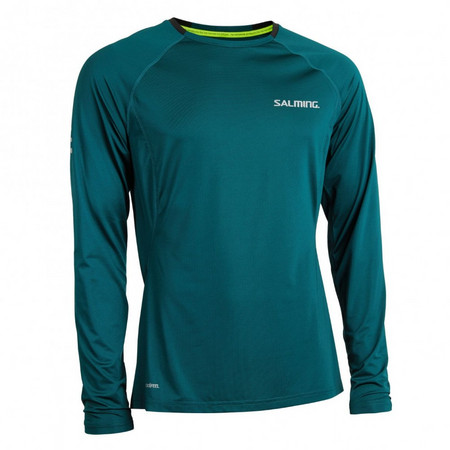 Salming Balance LS Tee Men Deep Teal Running t-shirt