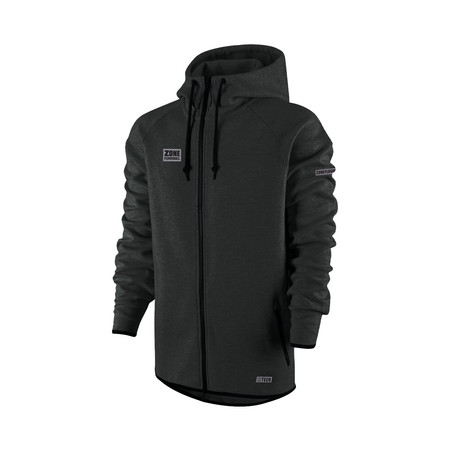 Zone floorball Hood ZIP HITECH black Hoodie