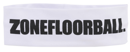 Zone floorball Headband LOGO HUGE Mid white čelenka