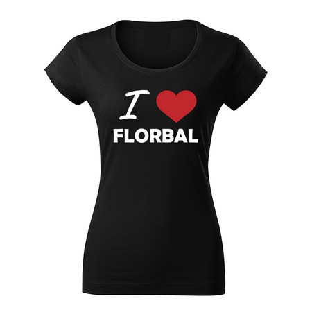 Necy I LOVE FLORBAL T-shirt Woman T-shirt