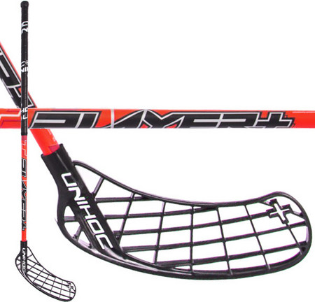 Unihoc PLAYER+ 26 SMU red/black Floorbal stick