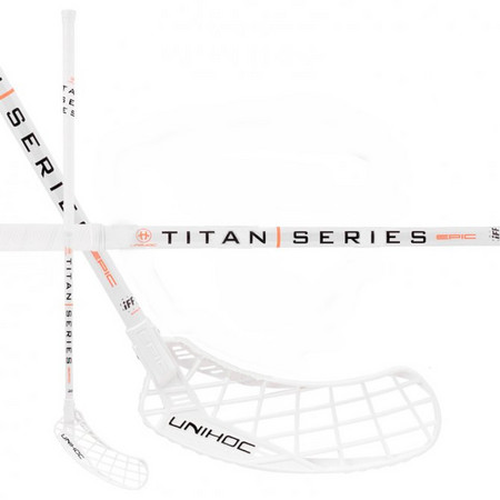 Unihoc EPIC TITAN Top Light II 24 white Floorball stick