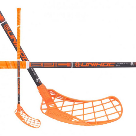 Unihoc EPIC Curve 1.0º 32 neon orange Floorball Schläger