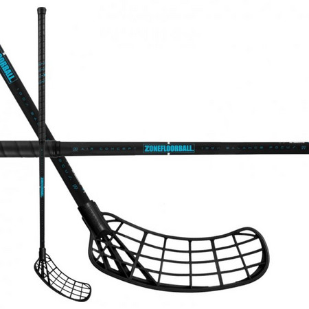Zone floorball MAKER AIR 29 black/turquoise Florbalová hůl