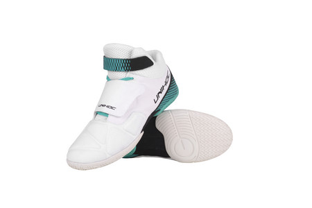 Unihoc Shoe U4 Goalie white/turquoise Goalie Indoor shoes