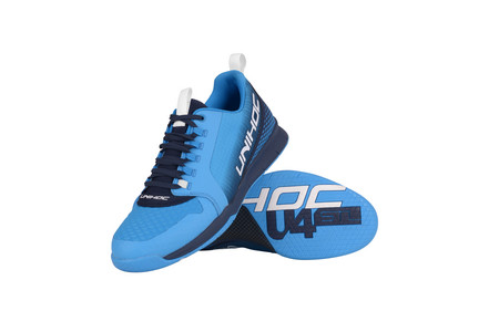 Unihoc Shoe U4 PLUS LowCut Men blue Hallenschuhe