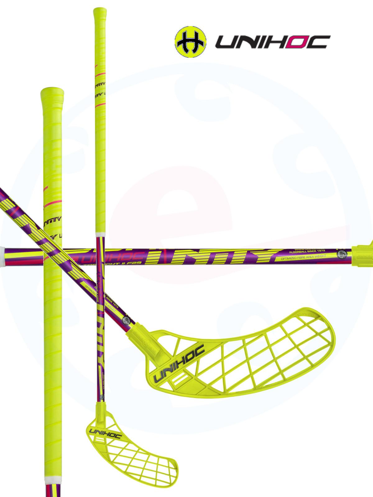 Floorball stick Unihoc UNITY Top Light II 29 neon yellow