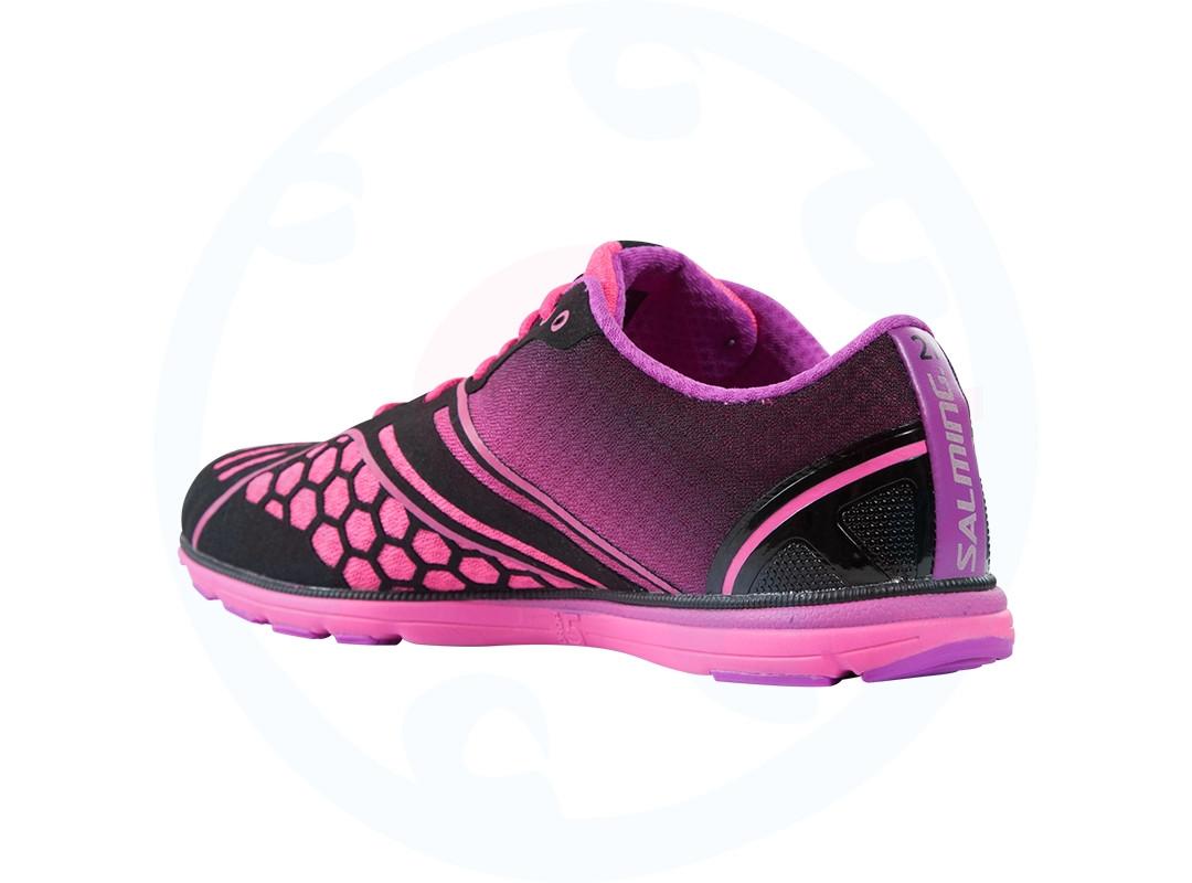 salming race shoe black pink running shoes