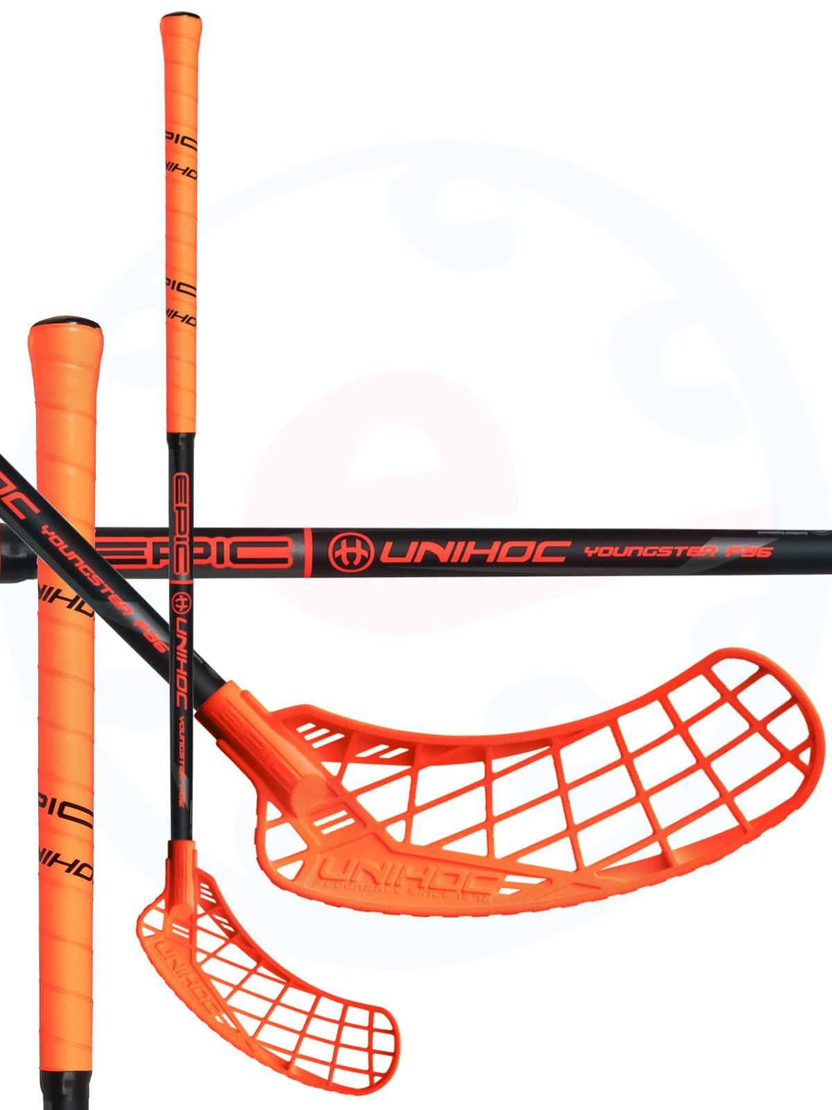 213766dcf Unihoc EPIC Youngster 36 neon orange/black Florbalová hokejka ...