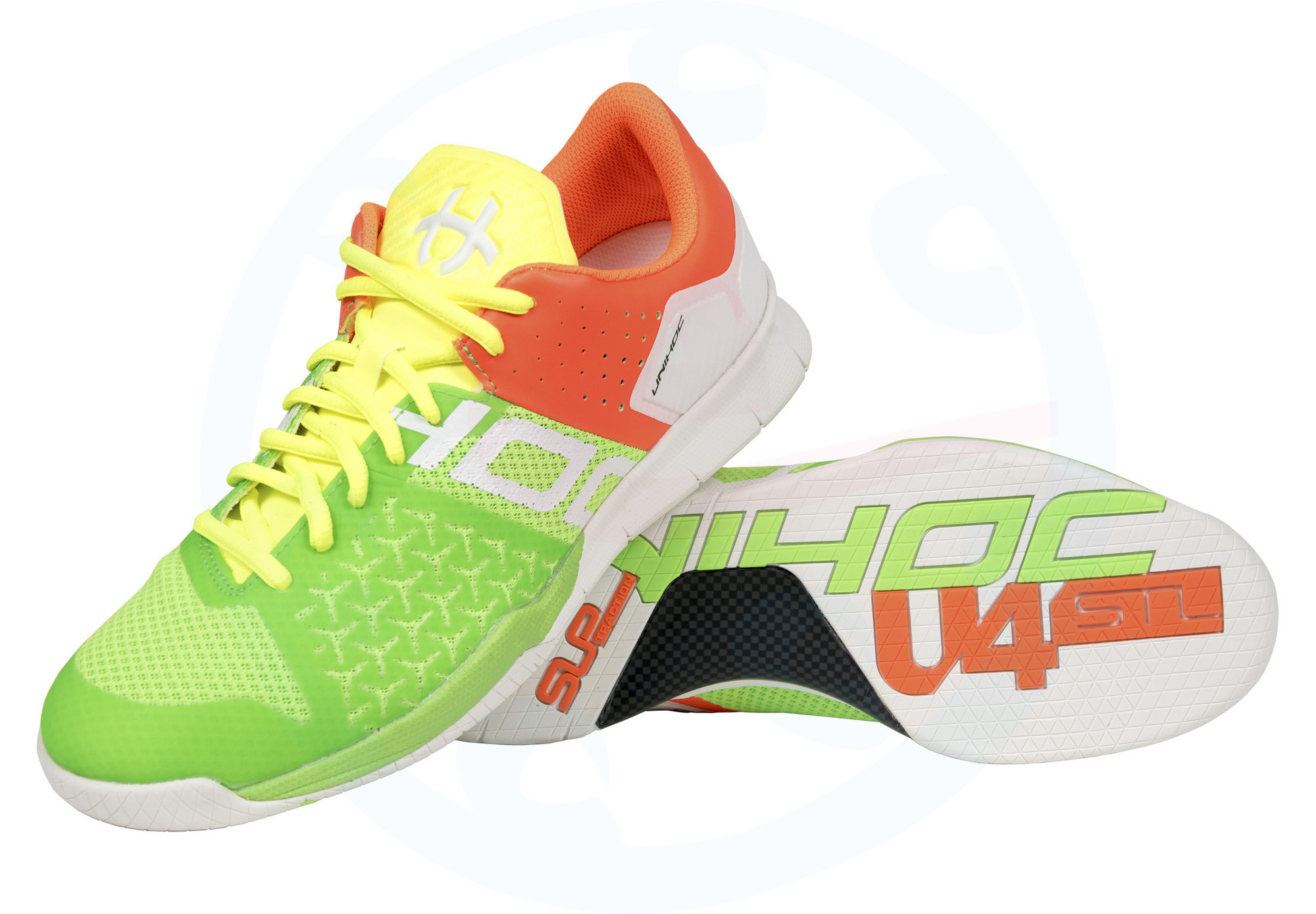 Unihoc U4 STL LowCut Men mixed neon Sálová obuv  db567dcf75