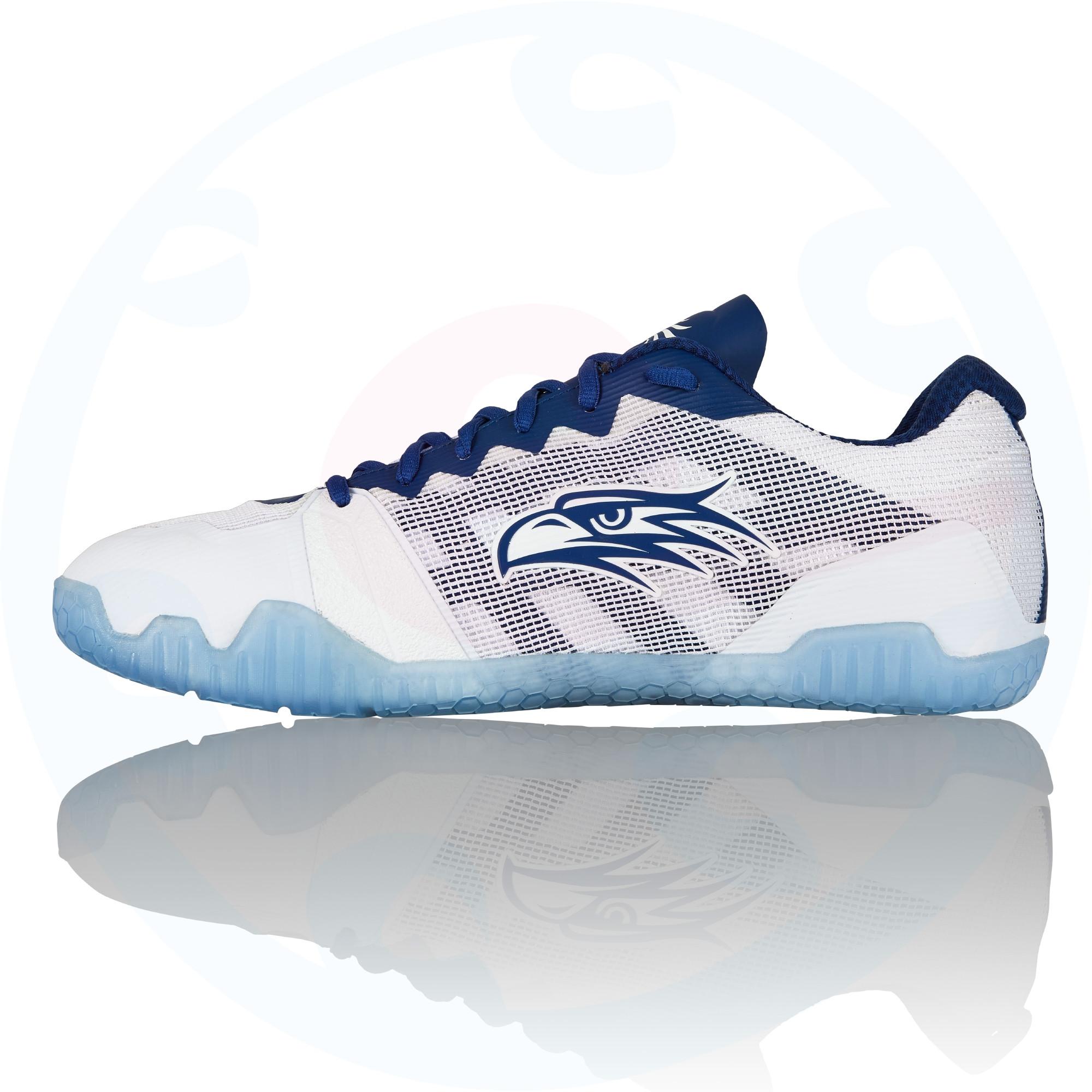 Salming Hawk Women Shoe White/Navy Blue UK 4 EU 36 bPWPcQY6py