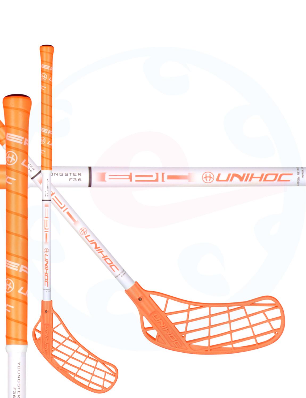 ba8482c3a Unihoc EPIC YOUNGSTER 36 neon orange/white Florbalová hůl | eflorbal.cz