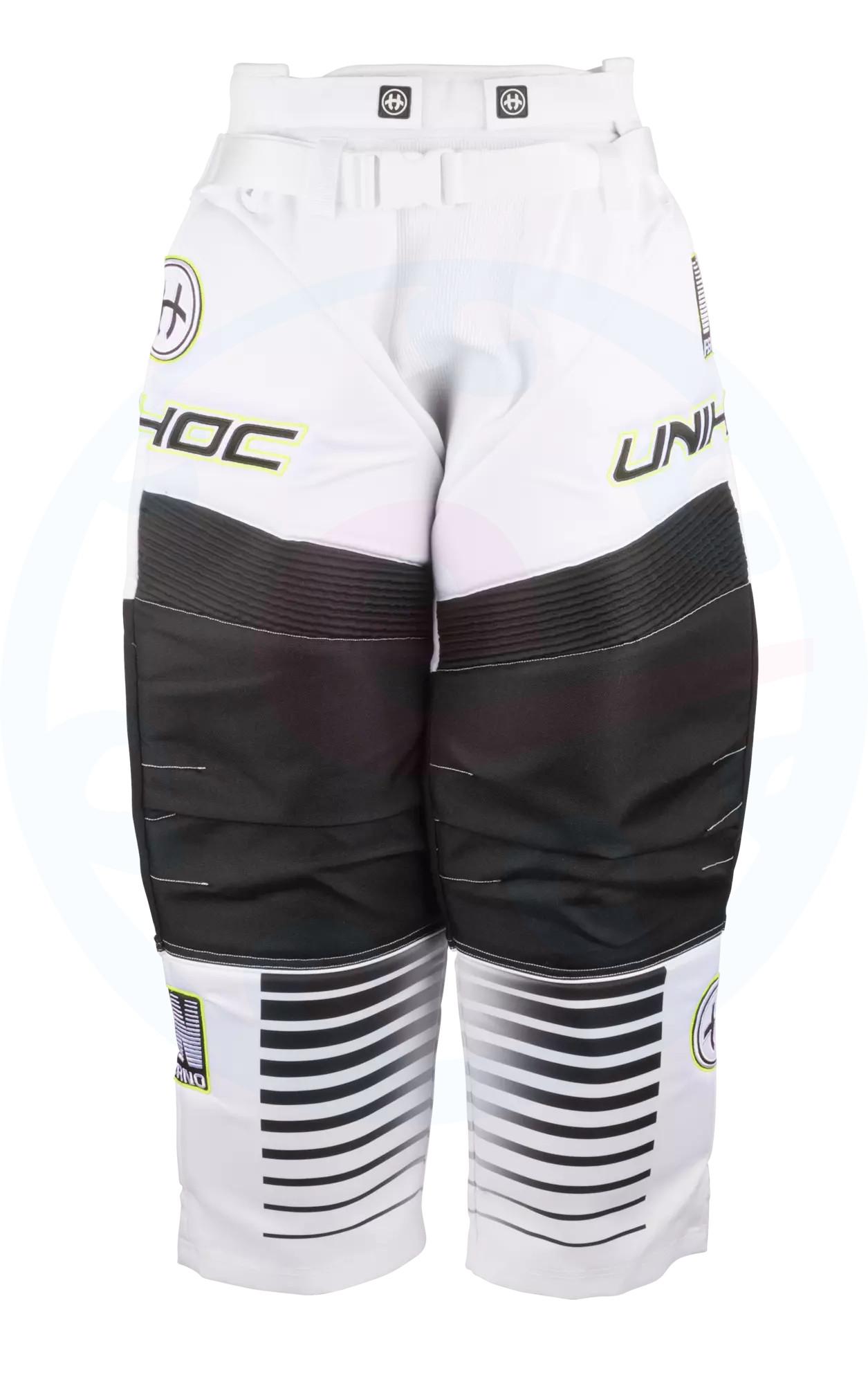 0ce0d6122a9 Unihoc INFERNO white black Goalie pants