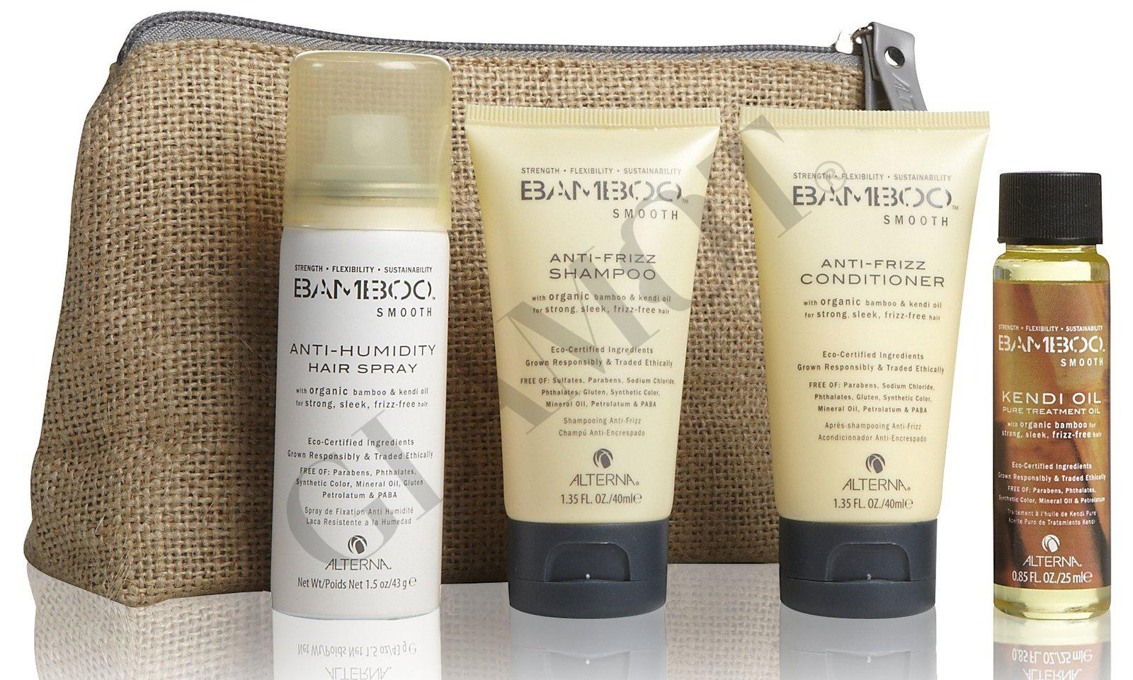 bamboo style hair products alterna bamboo smooth on the gotravel set glamot 9099 | 18555
