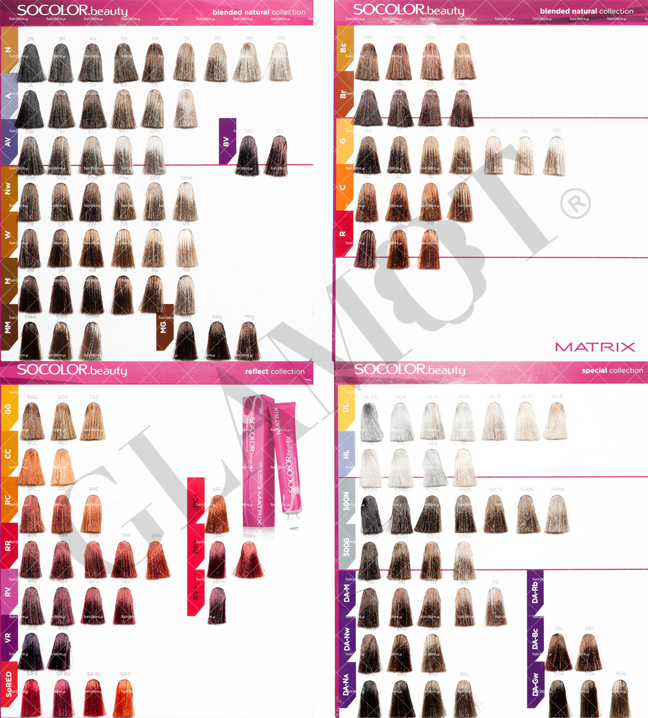 Hair dye colors chart for coloring your hair accurately of matrix matrix red hair color chart matrix socolor beauty glamot nvjuhfo Gallery