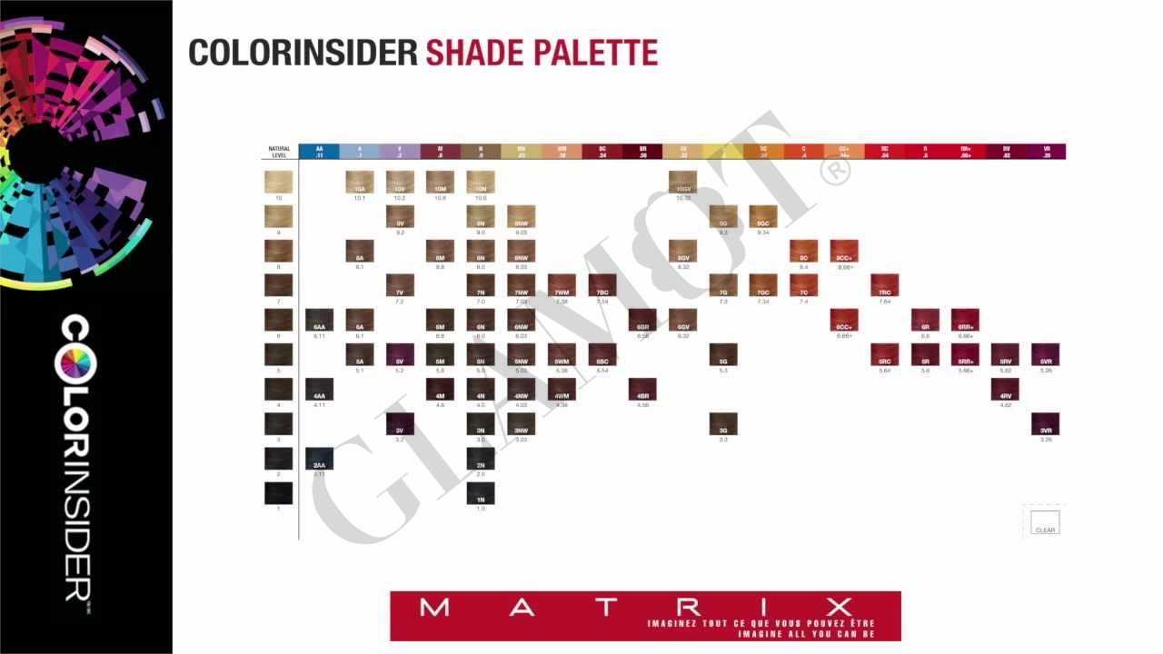 color chart matrix: Matrix colorinsider color chart glamot com