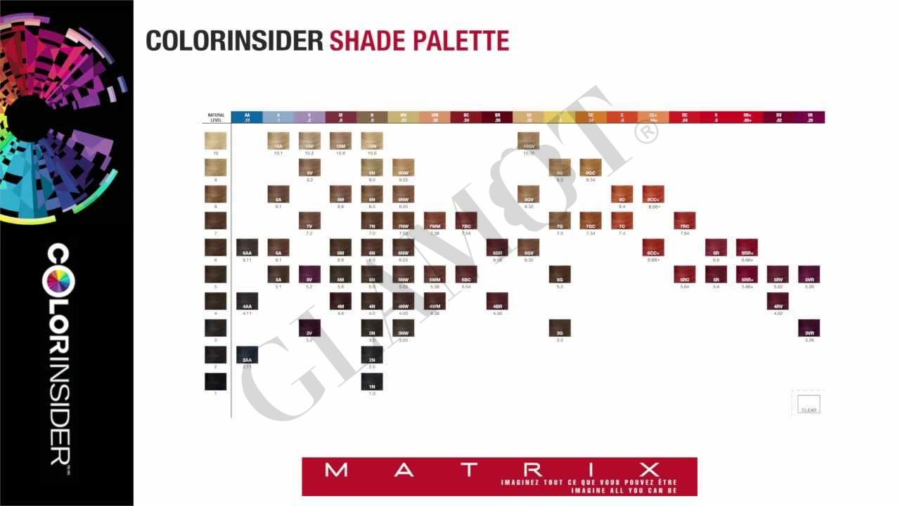 Matrix Colorinsider Color Chart Glamot Com