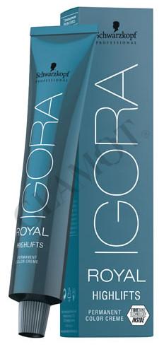 Schwarzkopf Professional Igora Royal Highlifts permanentní blond krémová  barva na vlasy dabcd3dfc2