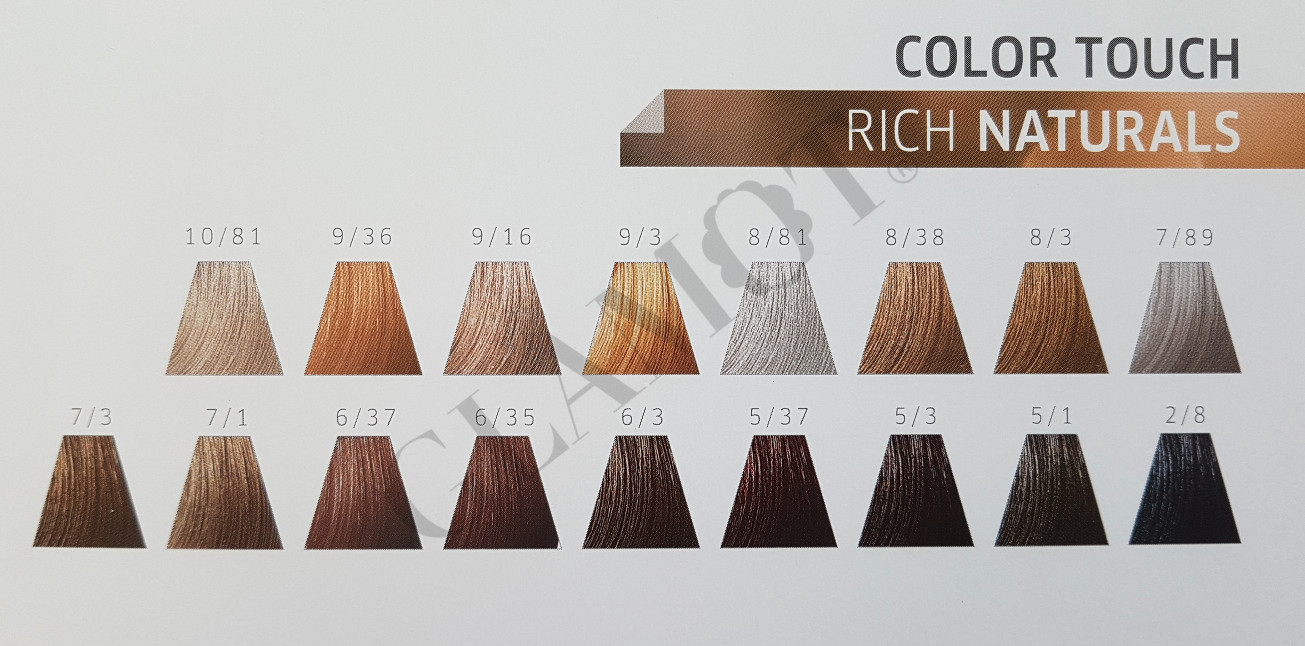wella professionals color touch rich naturals semi permanent hair color. Black Bedroom Furniture Sets. Home Design Ideas