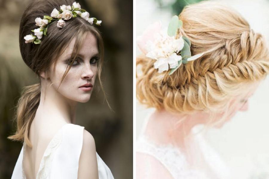 Čerstvý závan rustikální svatby vnesou na svatební hostinu účesy plné  polních květin a dalších přírodních ozdob. Družičky a ostatní svatebčané  mohou vsadit ... 9313d972e8