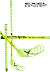 Florbalová hůl Exel DOUBLECURVE Neon Yellow Uniflex JR `15