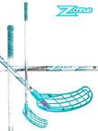 Florbalová hokejka Zone FORCE Curve 1,5° 29 White turqouise `15