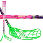 Florbalová hokejka Exel DoubleCurve 2.9 98 Round Purple Pink`15