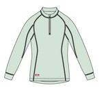 Thermo tričko Mizuno Mid Half Zip L/S W - výprodej